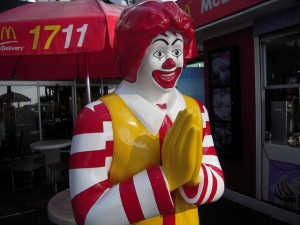 Ronald does the wai.